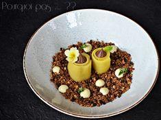 Pourquoi pas .... ??: Dessert chocolat, mangue, noisette, crème advocaat