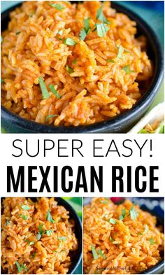 Mexican Rice Recipes, Easy Rice Recipes, Side Dish Recipes, Vegetarian Recipes, Cooking Recipes, Healthy Recipes, Mexican Meals, Easy Spanish Rice Recipe, Easy Recipe For Mexican Rice