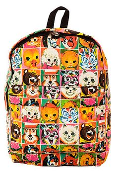 MKL Accessories Backpack Retro Animal in Pink