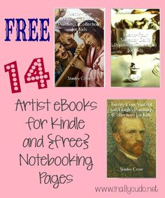 MORE {free} Artists eBooks for Kindle & {free} Notebooking printables - In All You Do