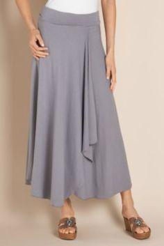 St. Kitts Skirt - Long Summer Skirt, Skirts, Clothing   Soft Surroundings..looks comfy!