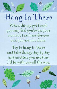 Hang In There Heartwarmers Keepsake Credit Card & Envelope | Gifts
