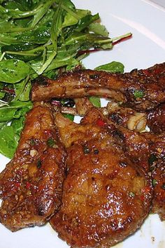 Spicy Sticky Lamb Chops - use lc sub for the brown sugar and try with pork chops Lamb Chop Recipes, Pork Recipes, Cooking Recipes, Healthy Recipes, Recipies, Wrap Recipes, Indian Food Recipes, Dinner Recipes, Ethnic Recipes