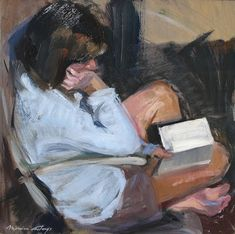 Llegint Lectura De bon mati Llegint Balzac Le Monde On the stairs Monica Castanys born Painting Inspiration, Art Inspo, Art Sketches, Art Drawings, Arte Peculiar, Arte Indie, Reading Art, Woman Reading, Arte Obscura