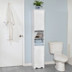 Bathroom Storage Cabinet Tower With Shelves, White White Bathroom Storage Cabinet, Linen Cabinet, Laundry Room Storage, Storage Spaces, Storage Ideas, Bathroom Organization, Storage Solutions, Rustic Bathroom Decor, Bathroom Ideas