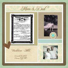 family history scrapbook -