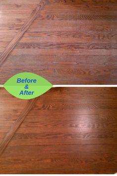 Dull Transformed To A Beautiful Satin Finish With Buff Coat Refinishing Hardwood Floorssatin