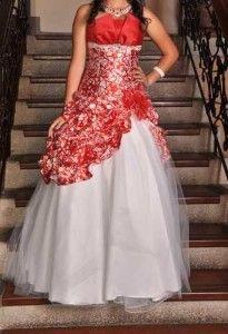 Lindos vestidos rojos con blanco de xv años 6