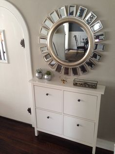 1000 images about hallway on pinterest shoe cabinet for Miroir ikea hemnes