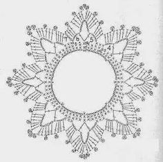 Best 12 crochet patterns in thread – SkillOfKing.Com - Her Crochet Crochet Motifs, Crochet Diagram, Crochet Squares, Thread Crochet, Crochet Doilies, Crochet Flowers, Crochet Christmas Decorations, Crochet Ornaments, Crochet Decoration
