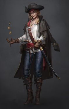 """we-are-rogue: """" Pirate, by Eryc TSang @we-are-pirate """" anyone notice she's missing a finger?"""