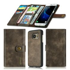 Mobile Phone Set For SAMSUNG S7 Phone Case with Multi Function Leather Wallet Card Magnet Separating Protective Sleeve #Affiliate