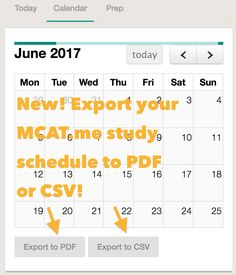 Design your MCAT study schedule in mcat.me, make adjustments as you go, and print out as needed!  https://www.mcat.me/studyplans/new/
