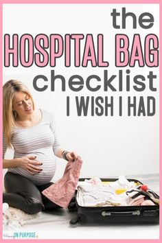 IF you aren't sure what to pack in your hospital bag for labor and delivery, we have got you covered! Everything you as a new mom, as well as dad and baby are all listed so that you are prepared for the trip to the hospital. Labor Hospital Bag, Labor Bag, Hospital Bag Checklist, Hospital Birth, Pregnancy Info, First Pregnancy, Pregnancy Announcements, Pregnancy Humor, Baby Kicking