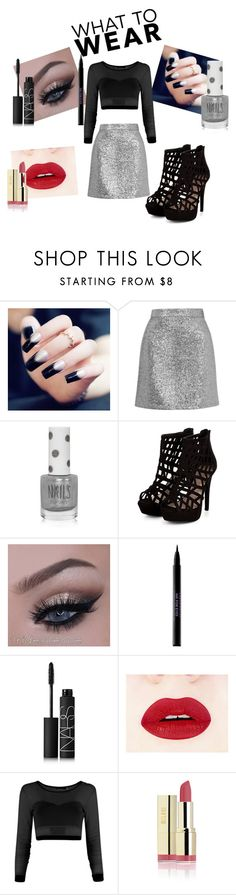 """Party"" by karolay-marquez-bustamante ❤ liked on Polyvore featuring Topshop, Urban Decay and NARS Cosmetics"