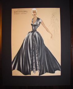 1950's Italian Fashion Illustrations - Koefia Roma No. 573