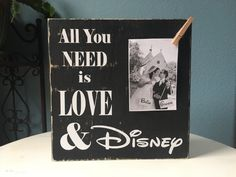 Disney Picture Frame Sign | All you Need is Love | Wedding Bridal Shower Gift  Please see Shop Announcements for current Production Time: