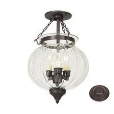 Dinning room light ideas:  Lowes  JVI Designs�10-in Oil-Rubbed Bronze Semi-Flush Mount Light
