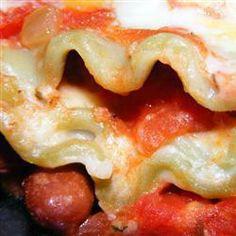 Red Kidney Bean Lasagne @ allrecipes.com.au