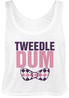 Tweedle Dum Crop Top - www.glamjewelers.com