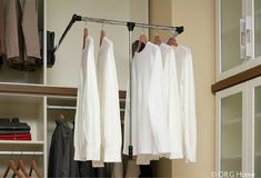 This pull down rod make clothes (on any place in the closet) accessible to everyone (even someone in a wheelchair). See 7 cool closet organization products in this article.