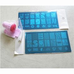 2 x Fashion DIY Polish Beauty Nail Art Image Stamp Stamping Plates+ 1 Silicone Nail Stamp 3D Nail Art Templates Stencils ZH2 Professional Makeup Brush Set
