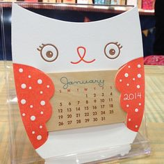 National Stationery Show round-up - instagram-style - Adorable calendar from Night Owl Paper Goods