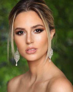 Soft Bridal Makeup, Wedding Eye Makeup, Bride Makeup, Prom Makeup, Wedding Beauty, Ball Makeup, Party Makeup Looks, Formal Makeup, Glossy Makeup