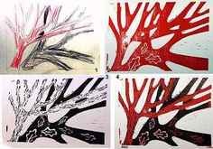 Find out what lino printing is and what's involved in making linoprints in this step-by-step tutorial.: Reduction Linocuts (Multiple Color Lino Print)