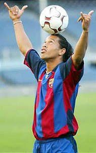 El crack brasileño del FC Barcelona, Ronaldo de Assis Moreira, más conocido mundialmente como Ronaldinho...