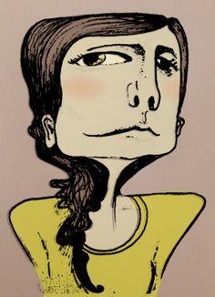 self portrait, tracy gallagher illustration
