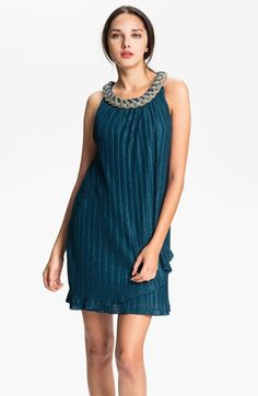 Donna Ricco Braided Collar Shift Dress (Petite) available at #Nordstrom
