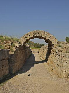 Ancient Olympia stadium, entrance gate