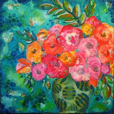 Mixed Media Painting tutorial by Gwen Lafleur using StencilGirl stencils and products from DecoArts.