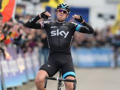 Ian Stannard does it again at the Omloop Het Nieuwsblad. Cycling News, Pro Cycling, Uci World Tour, Bike Reviews, Grand Tour, World Championship, Wetsuit, Sporty, Racing