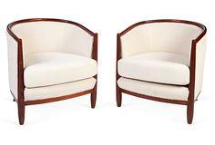 Round Back Chairs, Pair on OneKingsLane.com