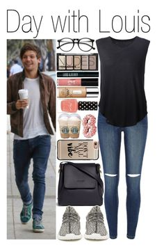 """""""#Day with Louis"""" by didi-horan ❤ liked on Polyvore featuring Sophie Hulme, River Island, adidas Originals, Raquel Allegra, Casetify, ZeroUV, Clinique, H&M, Lord & Berry and Chronicle Books"""