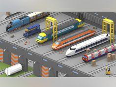 Train Depot Concept by Barrington Russell #Design Popular #Dribbble #shots