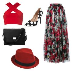 """red"" by lizonka905 on Polyvore featuring beauty, Dolce&Gabbana, Motel, Aspinal of London, Stetson and Charles by Charles David"