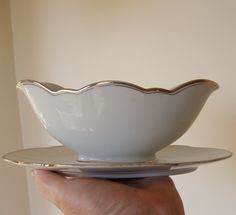 Vintage Bareuther Bavaria Gravy Boat by lookonmytreasures on Etsy