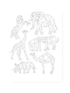 Animals in Africa poster. Blow up and use as a quilt pattern? Well I think so!