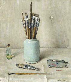 Lucie van Dam van Isselt Still Life with Paintbrushes 1946