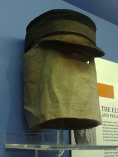 Cap and Hood worn by Joseph Merrick (The Elephant Man), Royal London Hospital Museum by globalNix, via Flickr