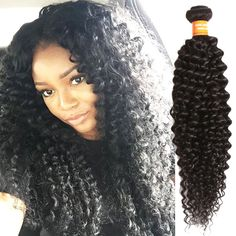Jerry Curly Wave Black 100g/pc Indian Real Human Hair Extension Grade 6A Wefts #WIGISS #HairExtension