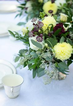 Loose Flower Arrangement by Toronto Florist for a late summer wedding