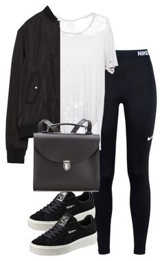 """Untitled #2595"" by theeuropeancloset on Polyvore featuring NIKE, Puma, Zara and The Cambridge Satchel Company"