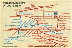 24 x 36 Poster. Kaart van openbaar vervoer de door HistoryPrints