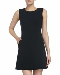 Capreena Ponte Mini Dress, Navy by Diane von Furstenberg at Neiman Marcus Last Call.