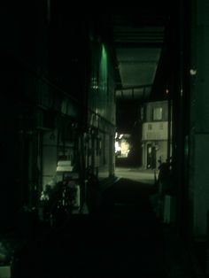 Sorry I'm late. That's okay, time doesn't exist. #photography #night #alley #dark #ahsheegrek