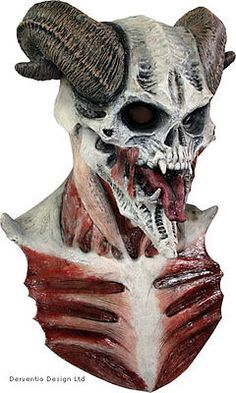 Mens #devil skull #latex head mask & chest deluxe #adult horror big halloween new, View more on the LINK: http://www.zeppy.io/product/gb/2/361513975824/